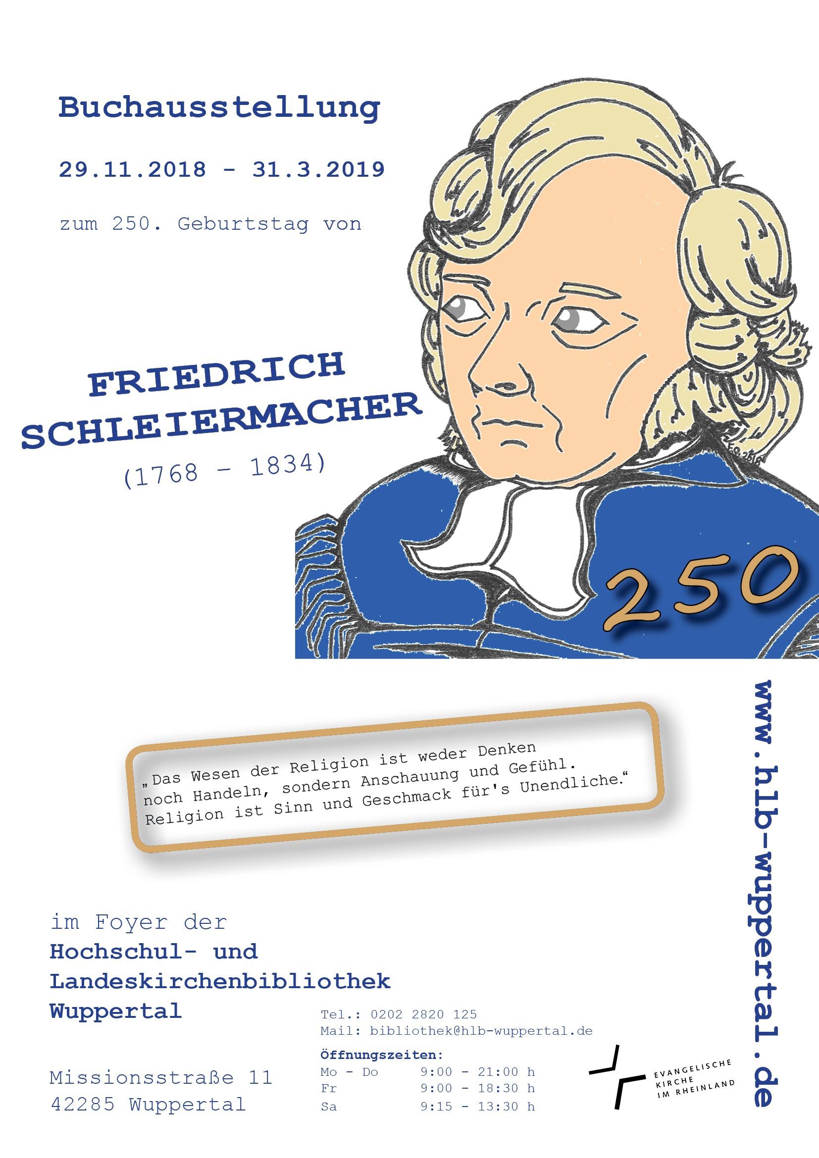 Friedrich Schleiermacher – Die Aktuelle Buchausstellung