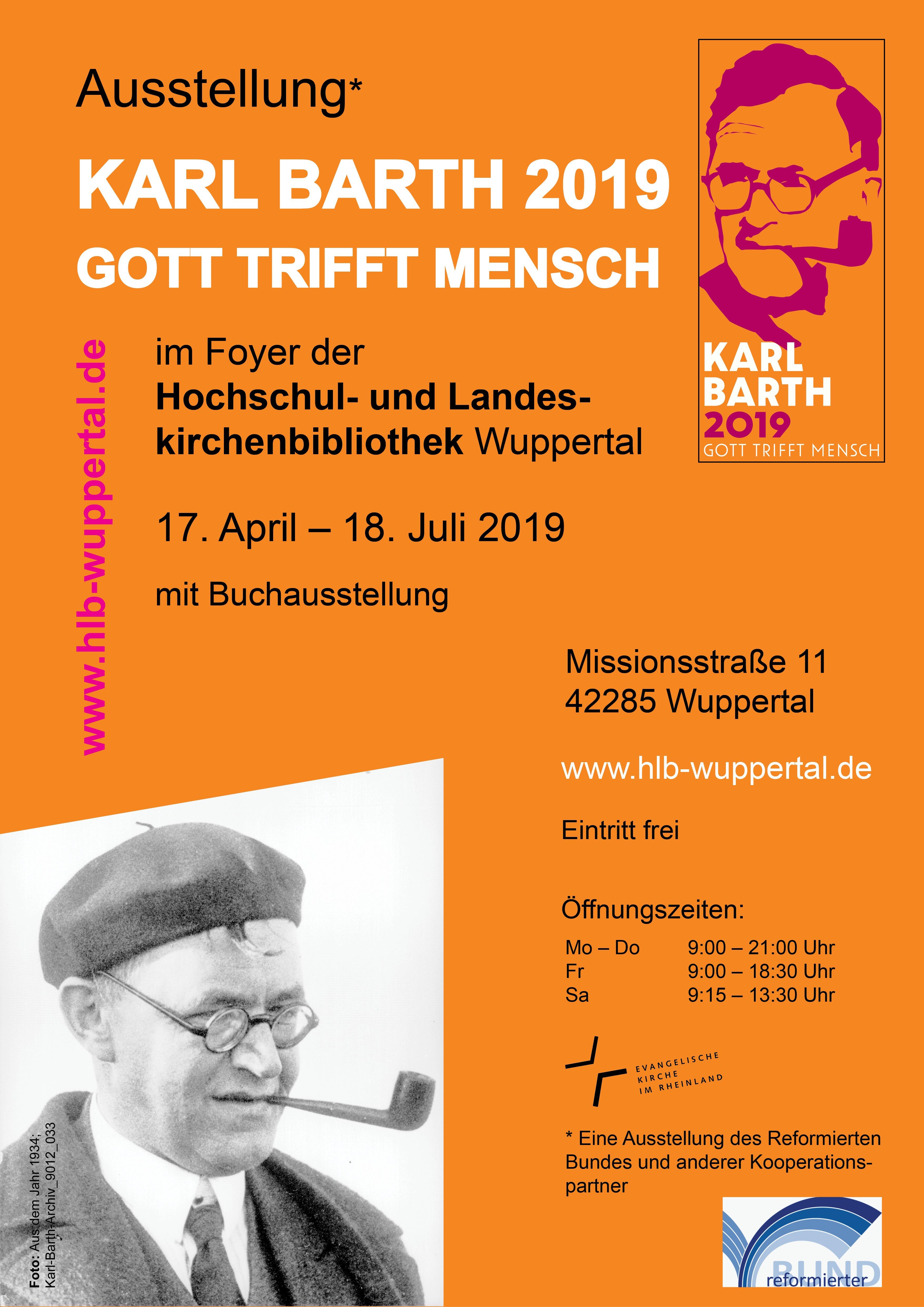 Vorankündigung: Ausstellung über Karl Barth