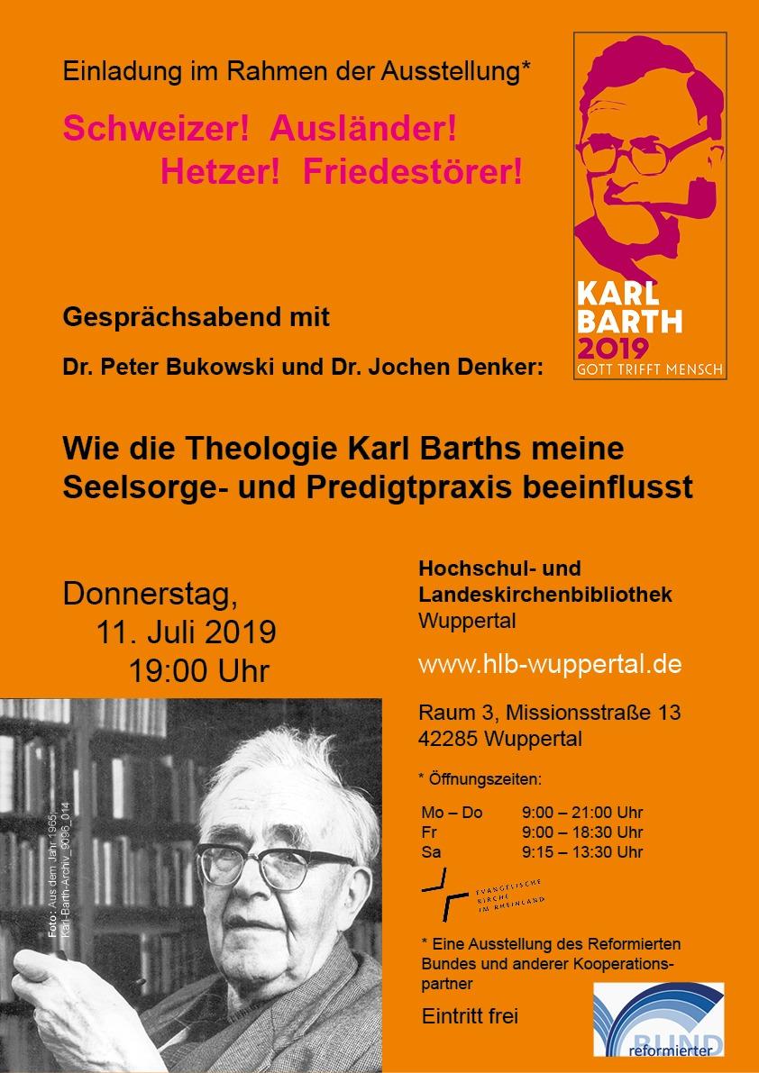 """Einladung Zum Gesprächsabend:  """"Wie Die Theologie Karl Barths Meine Seelsorge- Und Predigtpraxis Beeinflusst"""""""