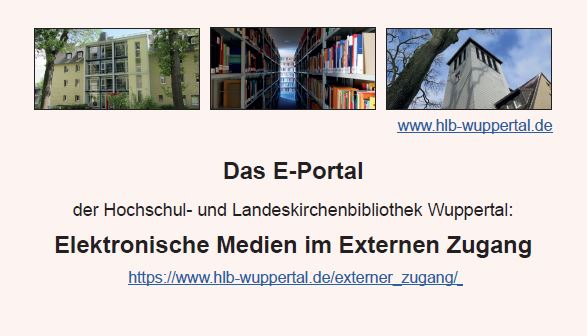 Information Zu Unseren Elektronischen Medien Im Externen Zugang